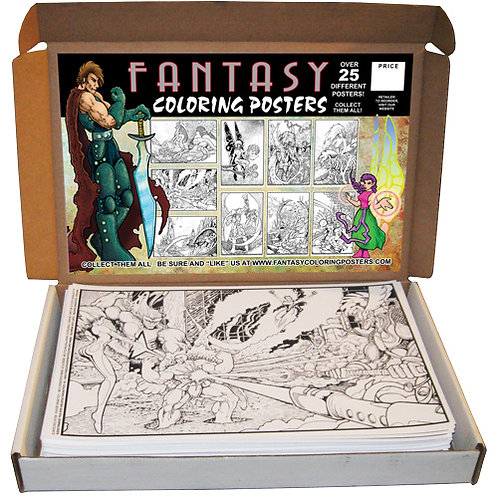 Fantasy Coloring Poster Resale Display