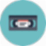 old_video_tape_vhs_record_vcr_flat_icon_