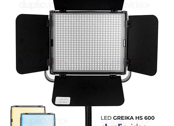 Iluminador Led Greika G-King HS 600MB - Com controle remoto