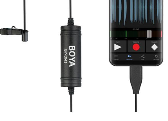 Microfone lapela BOYA BY-DM2