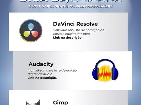 Dica da semana #005 - 3 Softwares gratuitos para videomakers!