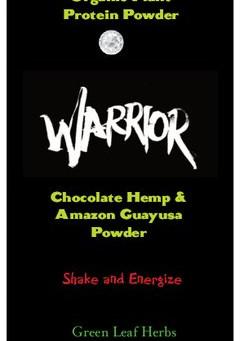 Warrior Energy Plant Protein Powder Delicious Organic Chocolate Hemp & Guayusa