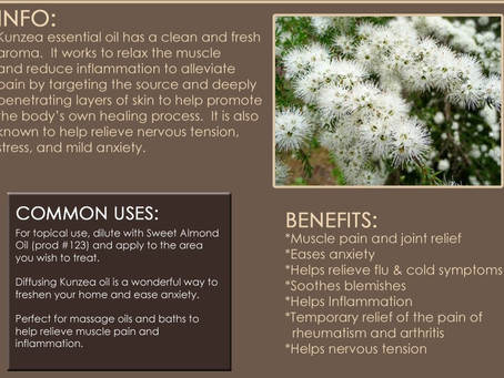 Kunzea Aussie Pain and Stress Relief Essential Oil.Sports injury pain inflammation relaxing.