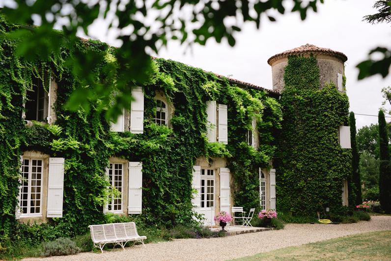 Historical Armagnac Castle ivy clad