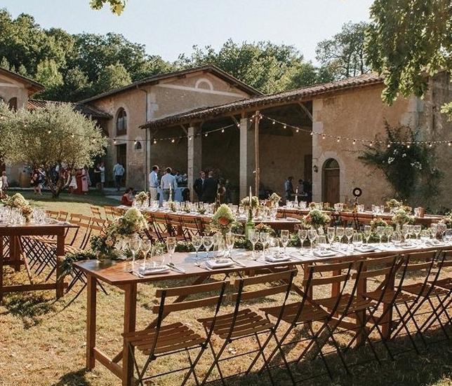 Rustic country wedding venue