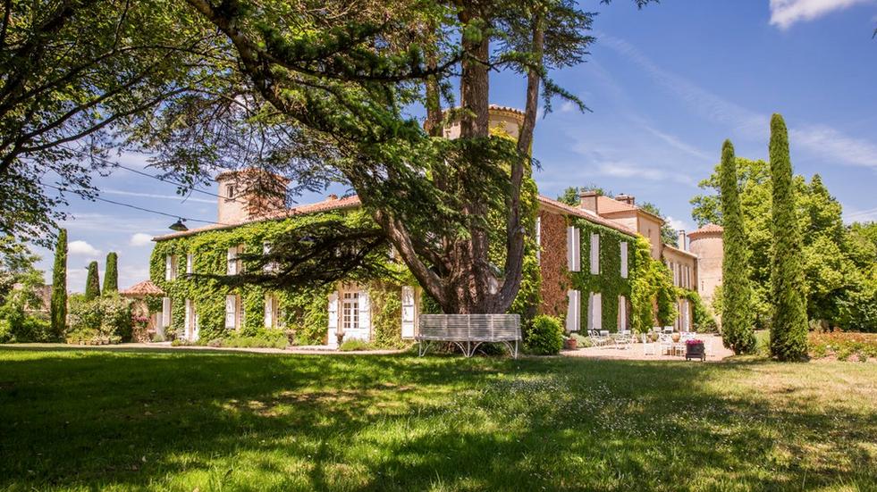 Historical Armagnac Castle far view