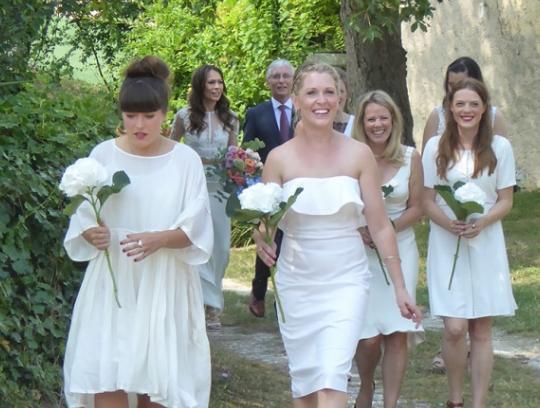 Spectacular hilltop wedding venue- bridal party