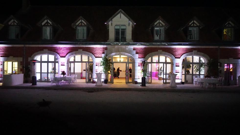 Lovely château wedding venue near Paris - night shot