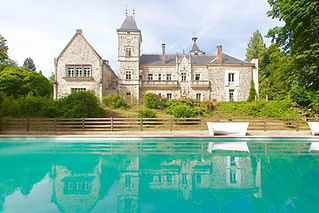Picturesque family-owned Chateau and Estate with chapel and a huge swimming pool.  Sleeps up to 44, caters for up to 150