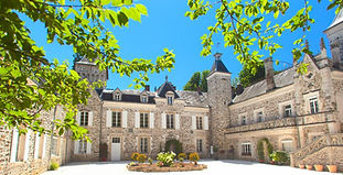 Picturesque family-owned Chateau and Estate with chapel and a huge swimming pool.  Sleeps up to 45, caters for up to 150