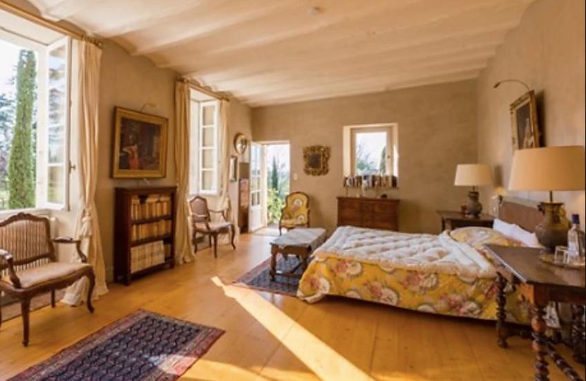 Historical Armagnac Castle bedroom