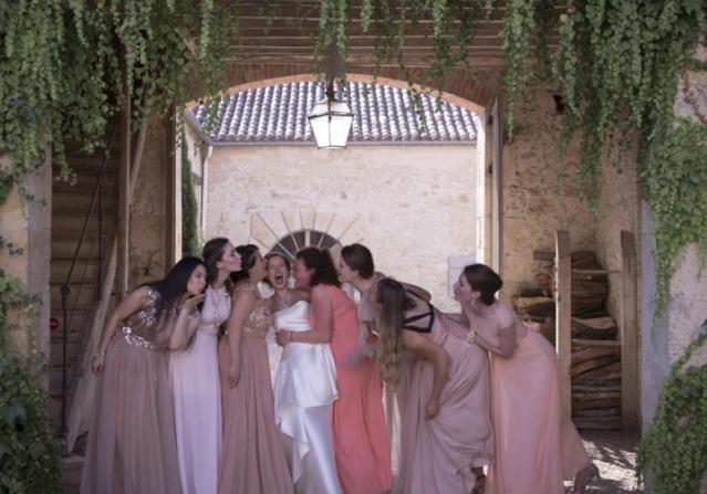 Historical Armagnac Castle bridesmaids