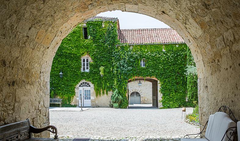 Historical Armagnac Castle archway
