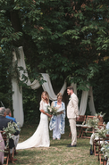 Majestic 19th century château in the South-west - woodland ceremony