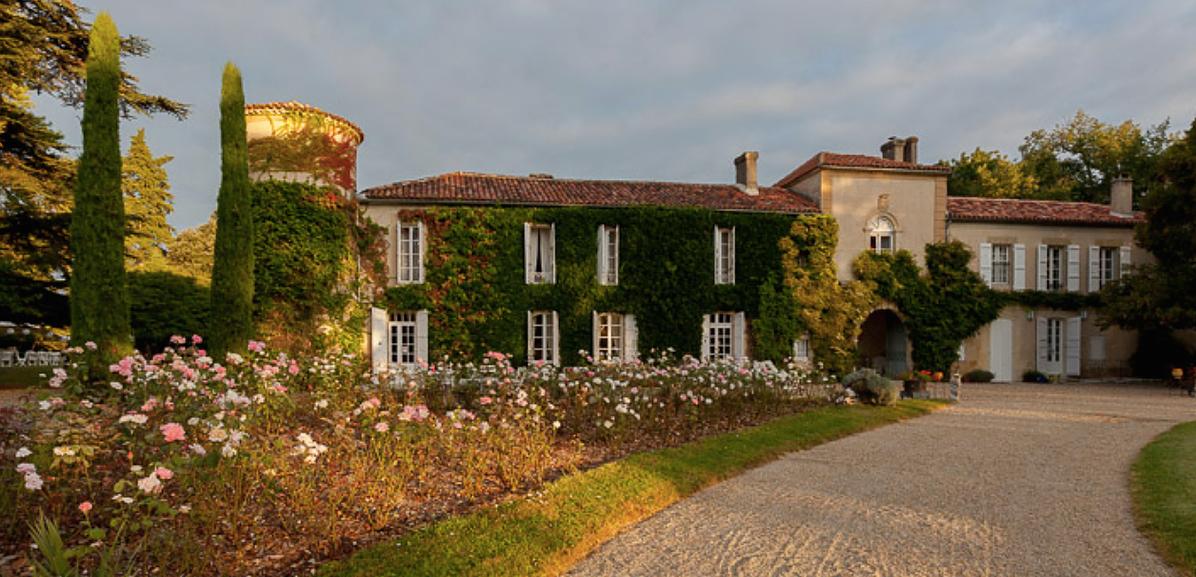 Historical Armagnac Castle front drive