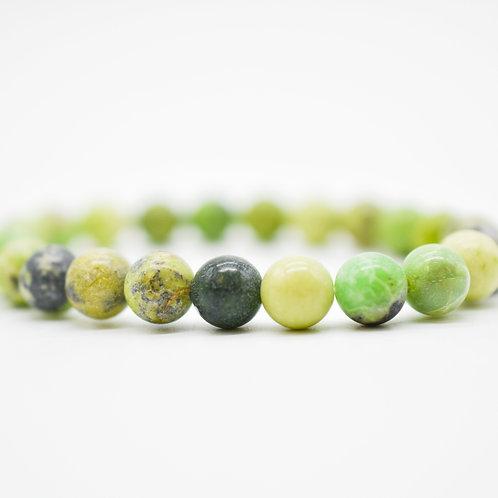 Chrysocolla Stone Bead Bracelets