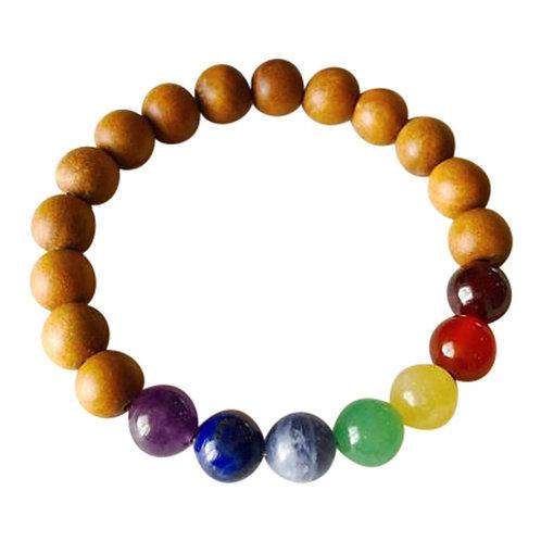 7 Chakras - Sandalwood Bracelet