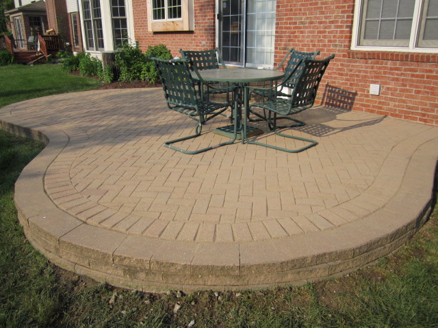 Paver Patio - After