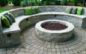 Wood burning, propane or natural gas. A custom built fire pit is a great addition to any outdoor living space.