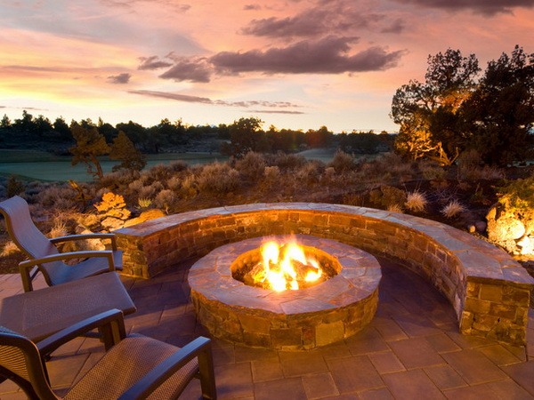 Affordable Hardscapes - Fire Pit Patio