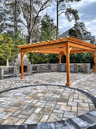custom built wood pavilion