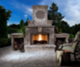 Belgard Fireplace and Wood Boxes