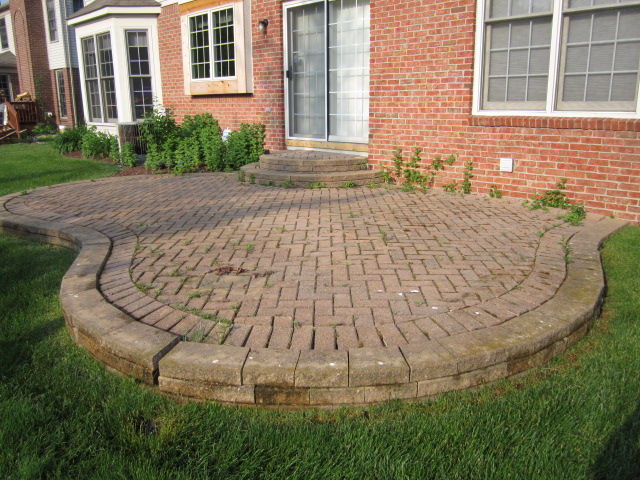 Paver Patio - Before
