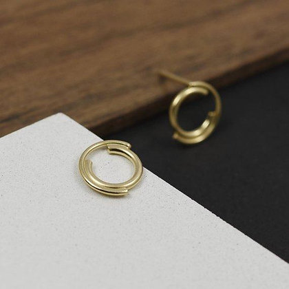 Les Cercles Gold Stud Earrings