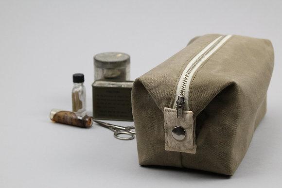 Waxed Canvas Cosmetics Bag