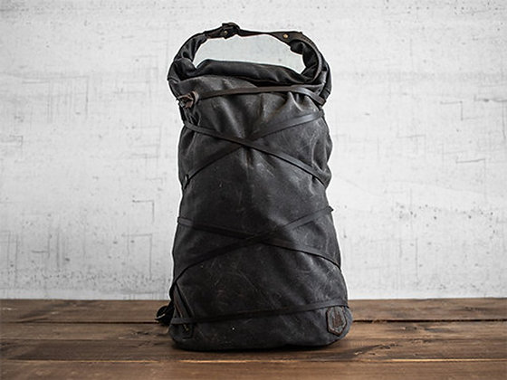 Divide waxed canvas backpack