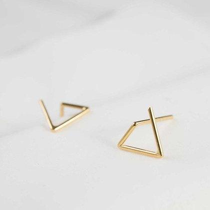Les Géométriques Gold Stud Earrings