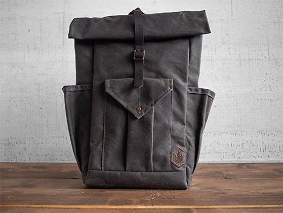 Crest waxed canvas backpack