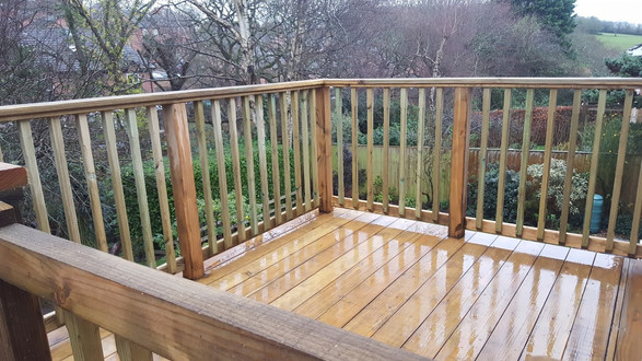 Douglas Fir Raised Decking.