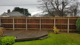 Concrete Posts , with timer feather edge fencing. Plymstock