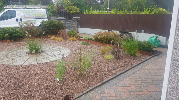 Hard & Soft Landscaping combined with planting of various grasses, Derriford, Plymouth