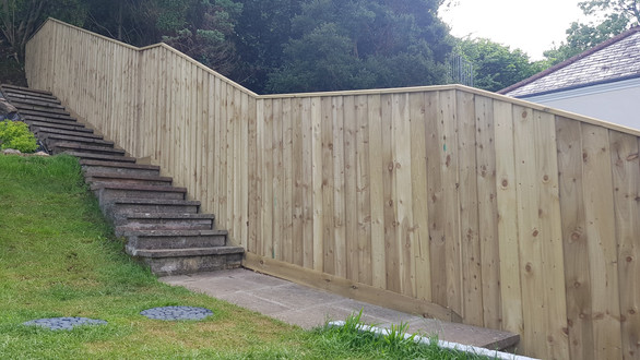 Feather Edge, Closeboard Fencing, Plymouth