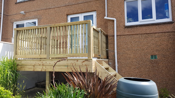 Tanalised Raised Decking, Plymouth.