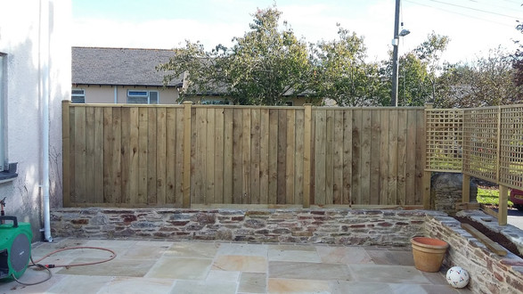Indian Sandstone Paving & Acoustic Fencing