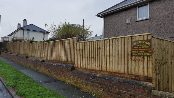 Bespoke feather edge fencing,