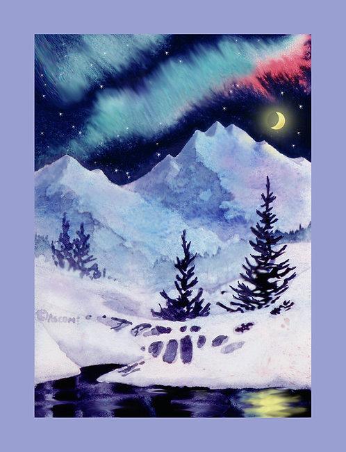 """Midnight Aurora"" Fabric Art Panel"