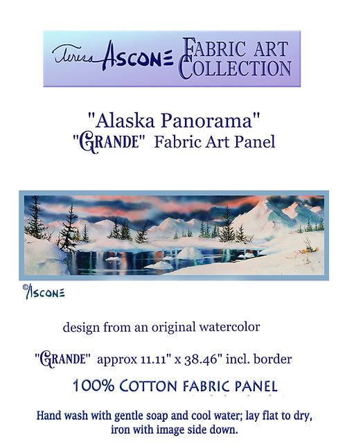 ":Alaska Panorama"" GRANDE Fabric Art Panel"