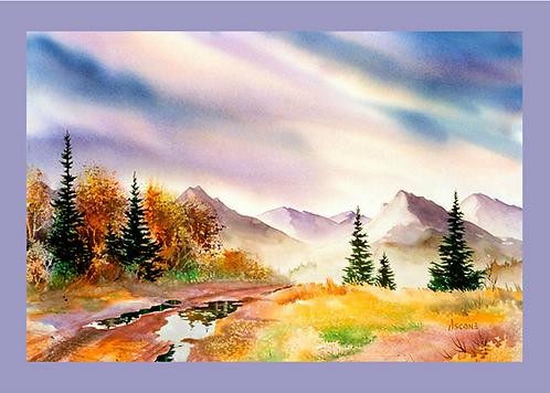 """After the Rain"" Fabric Art Panel"