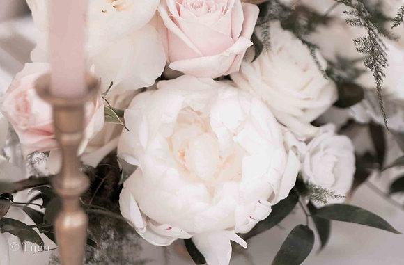 Blush summer wedding details