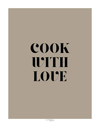 Cook with love Poster
