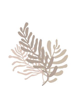 beige flowers illustration
