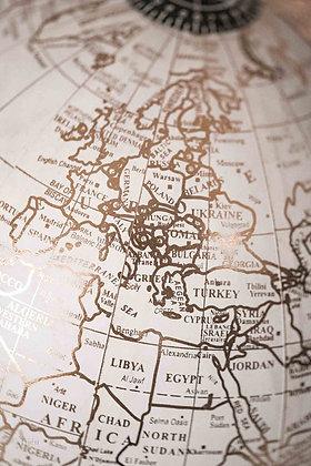 white golden globus europe