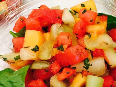 Summer Hack- Mint Melon Salad