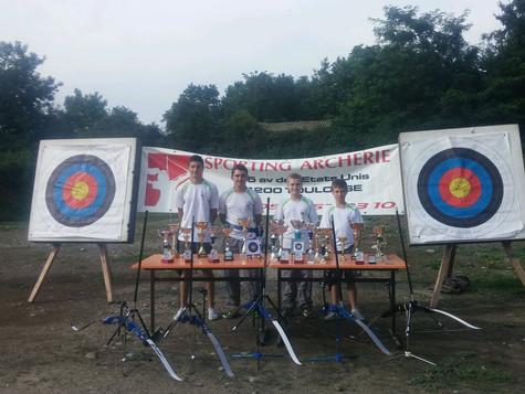 Quatre archers champions d'envergure !