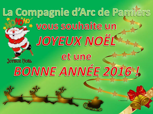 noel, compagnie d'arc de Pamiers, pamiers, tir à l'arc, bonne année 2016, 2016