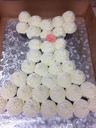 bridal cupcake cake